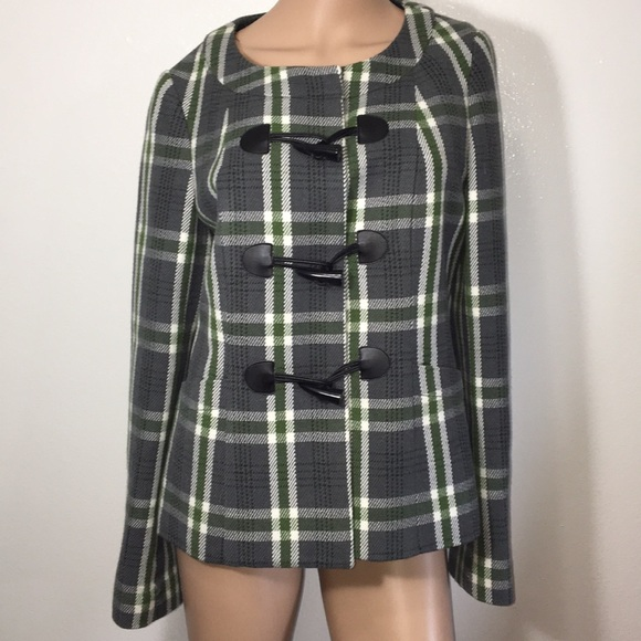 The Limited Jackets & Blazers - The Limited Plaid Coat